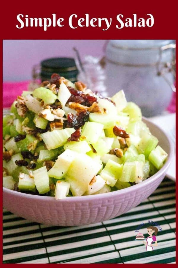 How to make a crunchy salad with celery, cranberry and toasted pecans