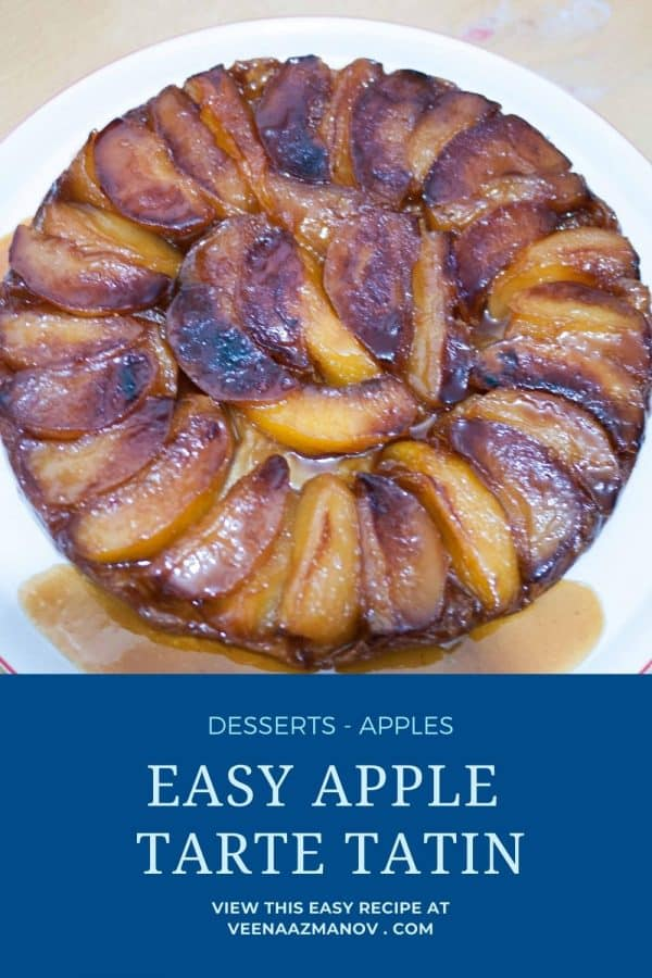 Pinterest image for upside down tart with puff pastry.