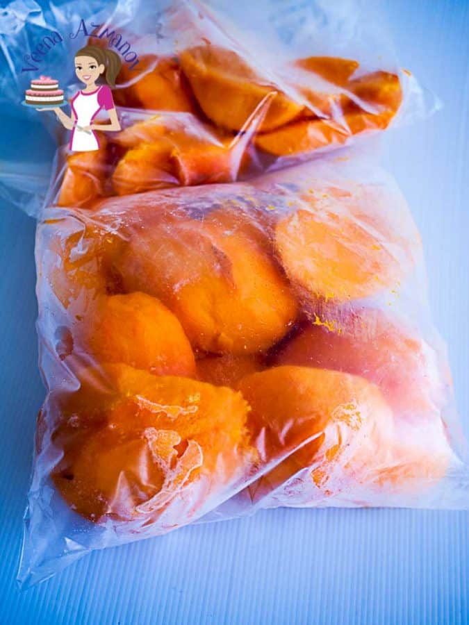 One of the best ways to eat fruits in off season is to preserve them for a longer time meaning freeze them. In this post I show you how to freeze mangoes so you can use them off season but this technique can be used with almost any seasonal fruit.