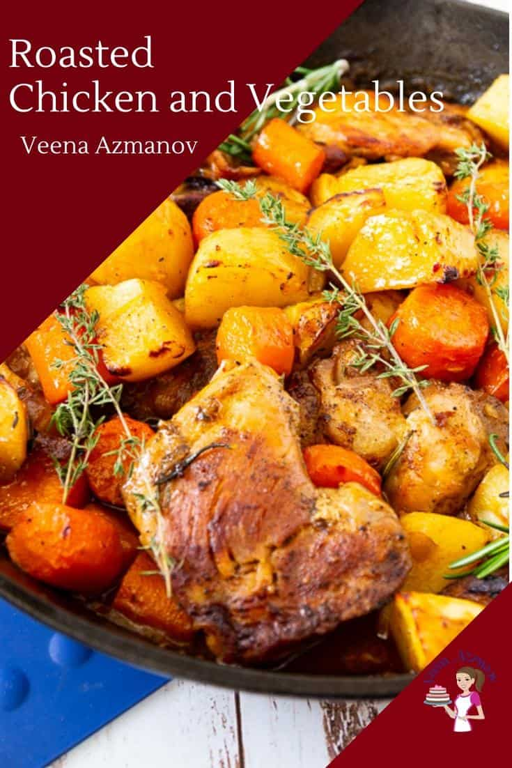 Quick Roasted Chicken with carrots and Potatoes