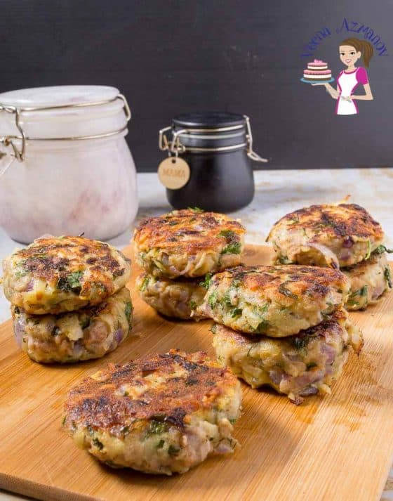 An image optimized for social media share for these tuna potato patties which make great appetizers and sides or quick sandwiches and wraps.