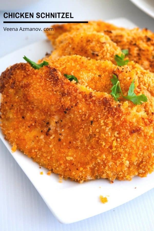 How to make breaded chicken bread called schnitzel