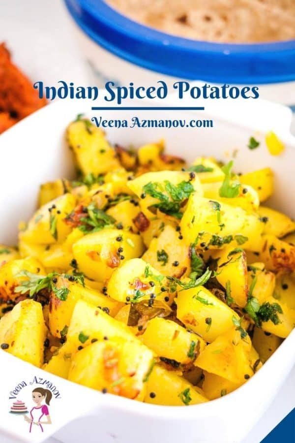 Pinterest image for Indian Potatoes