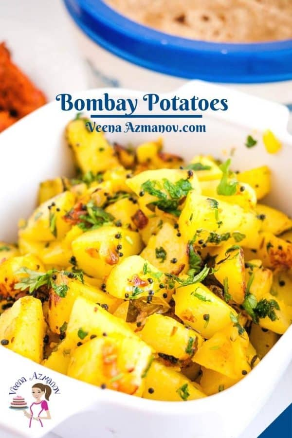 Pinterest image for Indian potatoes.