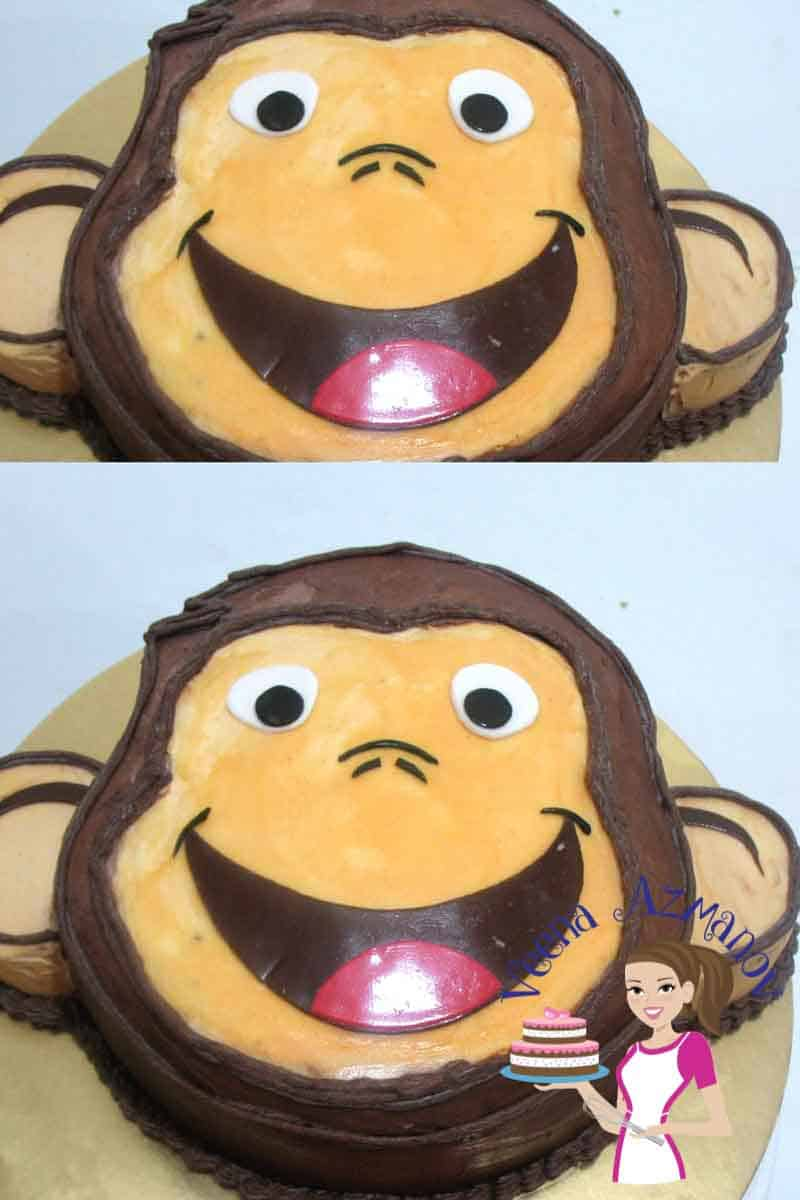 Curious George Face Cake – Cake Decorating Tutorials