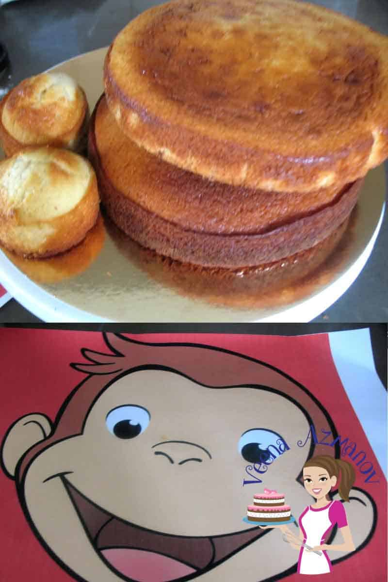 Curious George Face Cake Cake Decorating Tutorials