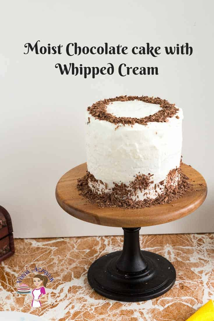 Moist Chocolate Cake with Stabilized whipped Cream
