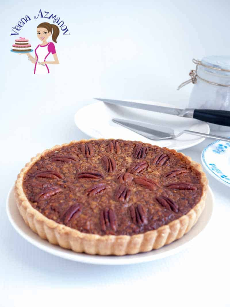 An absolute classic pecan pie made with golden syrup and delicious pecans perfect for Thanksgiving or Christmas.