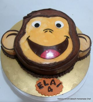 Curious George Face Cake