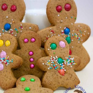 These traditional gingerbread cookies are the best treats and activity for kids especially during play dates. Watch my son in the video below. They taste absolutely delicious on their own with the warm mix of spices like ginger, cinnamon and have a beautiful color from the molasses. They make perfect goody bags for Christmas, Halloween or Easter too..!!