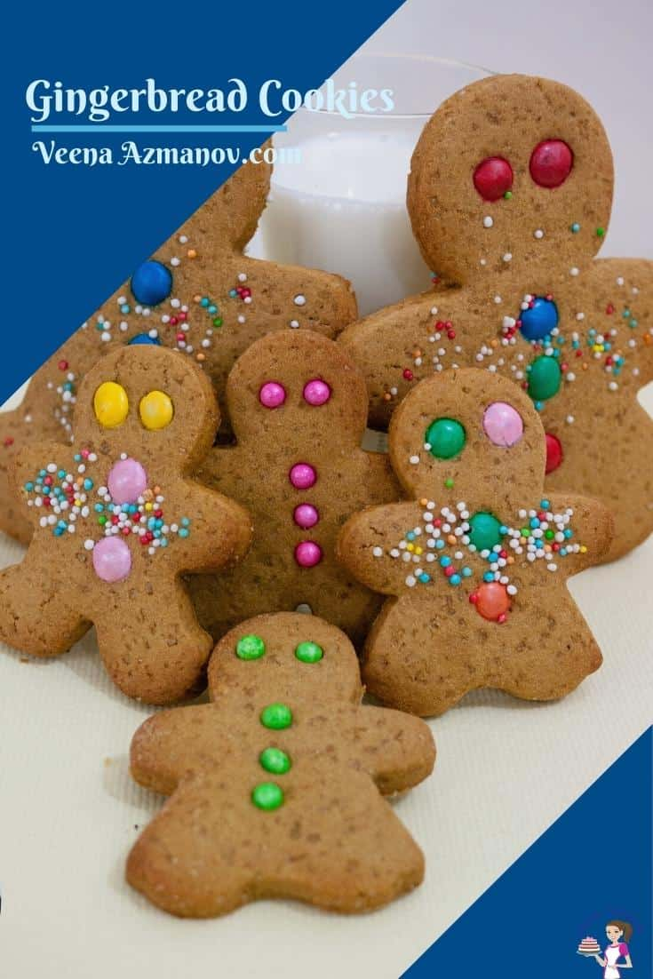 Pinterst image for gingerbread cookies