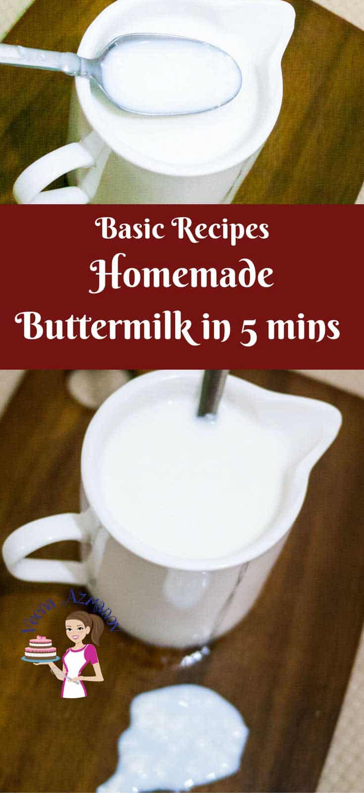 Many recipes now a days use buttermilk but often there is none at home? You can make Homemade Buttermilk in as little as five minutes its so simple and easy.