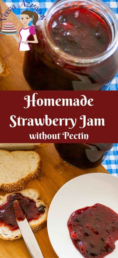This simple and easy homemade Strawberry jam is soft, fruity, delicious and easy to spread. Here's a step by step recipe to making this homemade classic without using any pectin or artificial flavoring just like mom and grandmas did.