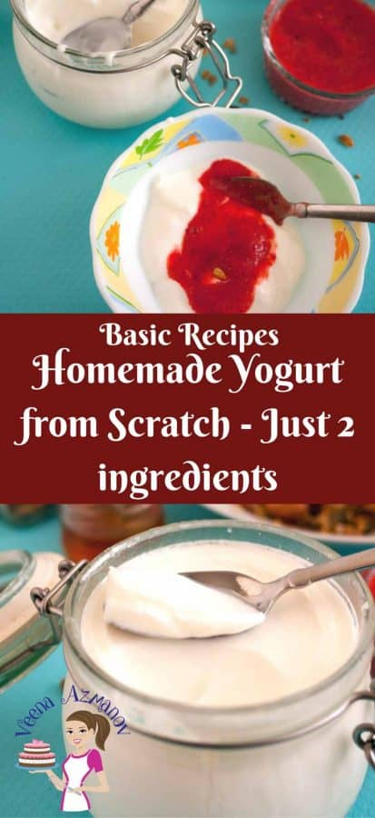 Making homemade yogurt from scratch uses only two ingredients and it's not just simple and easy but also healthier because it contains active bio culture that plays an active part in helping you digestive system.