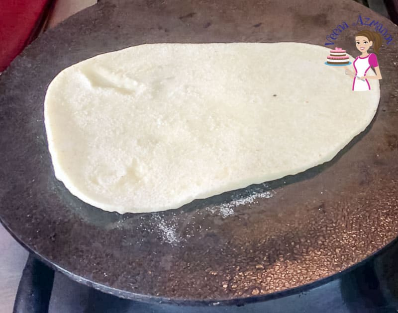 Cooking the homemade naan on the stovetop - Progress Pictures