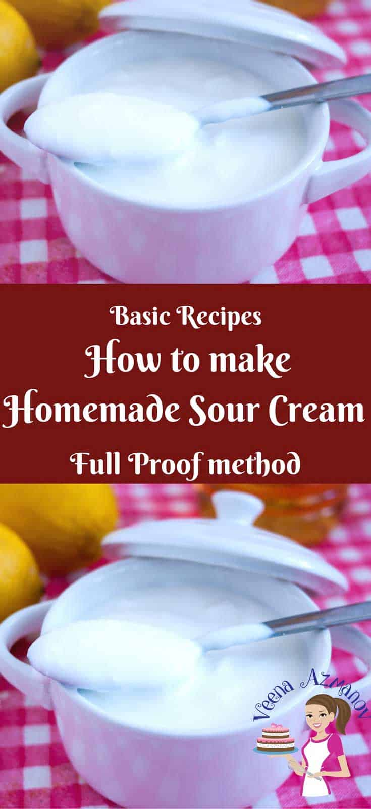 Nothing beat homemade and homemade sour cream is so simple, easy and effortless, not to mention healthier. The only dilemma is usually the waiting time which requires you planning in advance. In this post I share my full-proof method that will give you perfect sour cream every single time.