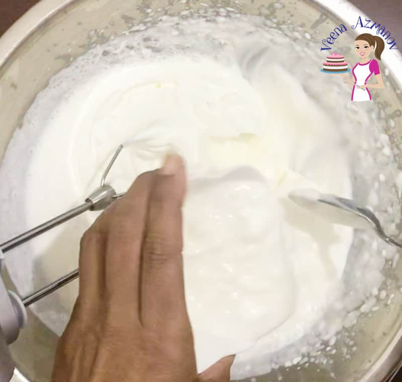 Stabilizing Whipped Cream - 5 different methods - add the tempered gelatin