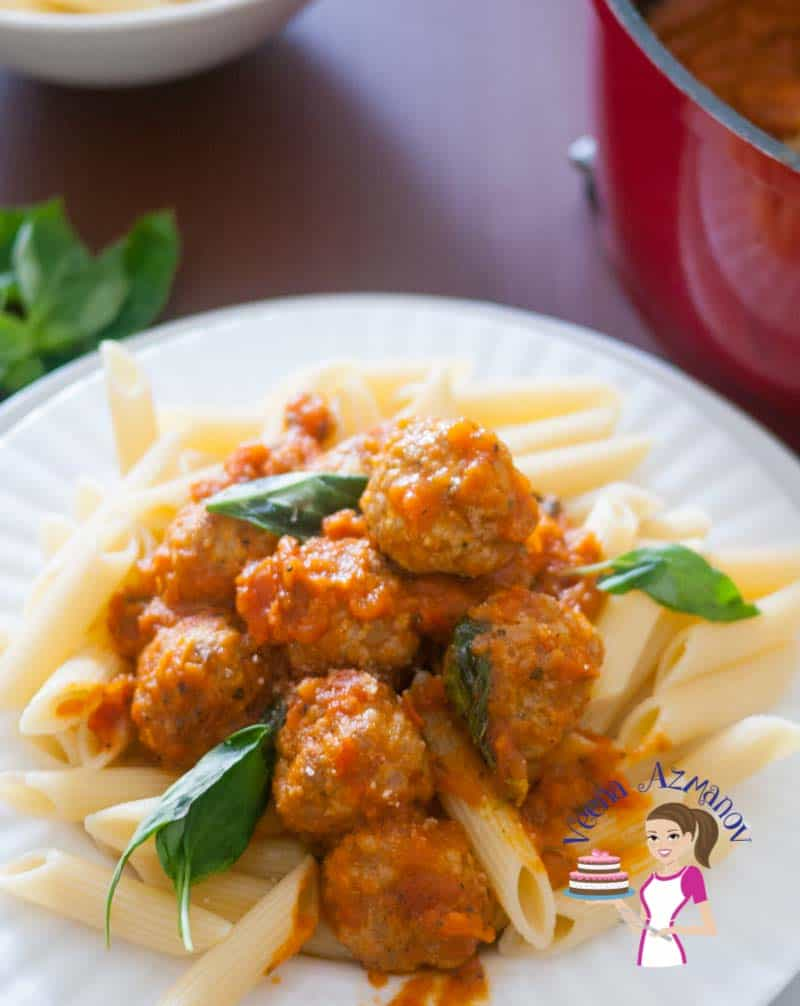 What could be more comforting than Turkey meatball pasta low in fat but packed with flavor cooked in a tomato sauce made with fresh wholesome seasonal tomatoes.
