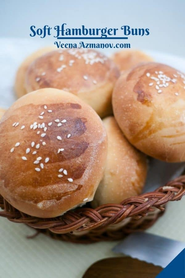 Pinterest image for buns for hamburgers.