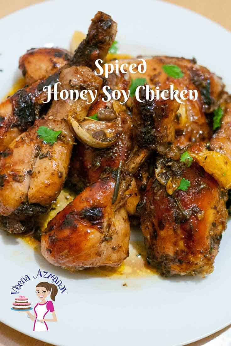 Featured Image - Spiced Honey Soy Chicken Recipe