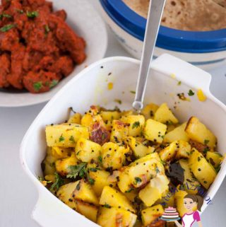 These quick Indian Spiced Potatoes has got to be the quickest Indian dish you can ever make!! Simple, easy and effortless; gets ready in 15 minutes or less. This very versatile dish can be served on it's own or as a side dish paring with a delicious main course.