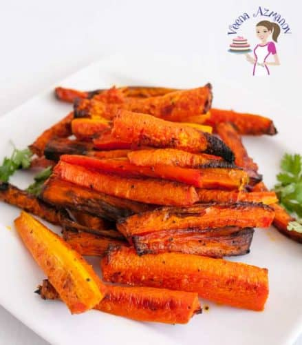 oven baked carrot sticks are the best way to eat carrots especially for the kids. Baking them caramelizes the sugars and makes them more sweet and tender
