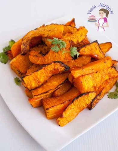 Butternut squash when baked really brings out the sweetness of the vegetables and needs nothing more than just a sprinkle of salt pepper and good quality olive oil.