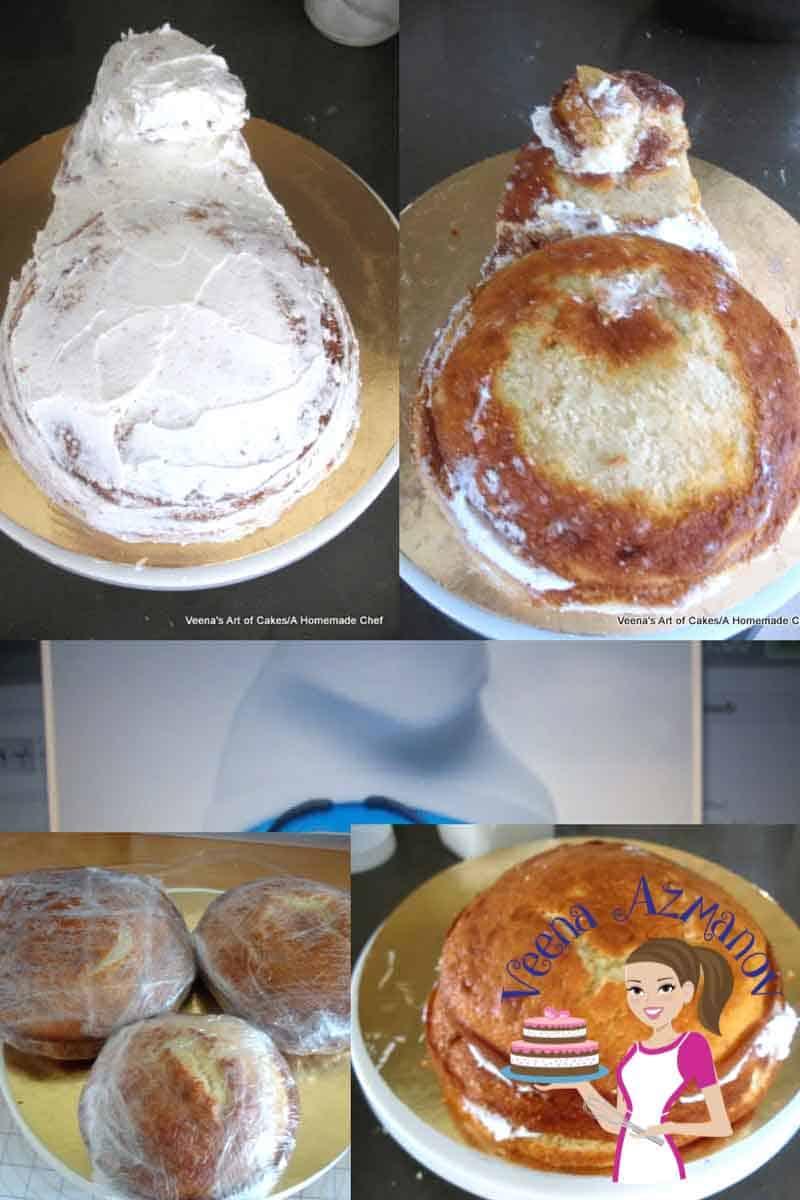 Eight Layered V Vanilla Cake