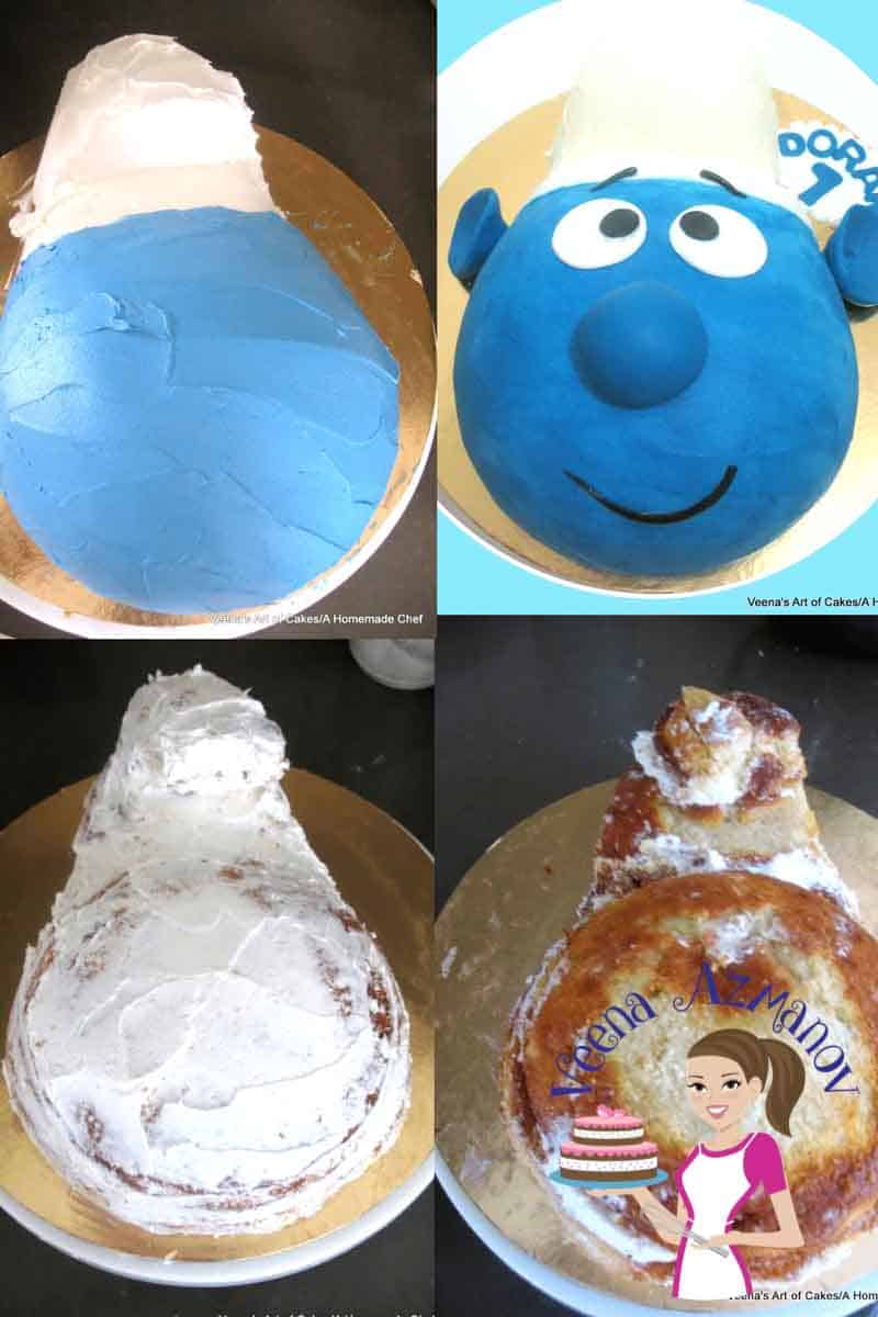 A Smurf Face Cake Can Make Fun Simple Easy For Kids Birthday