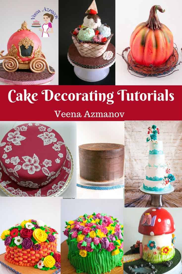 A Collection of cake decorating tutorials by Veena Azmanov