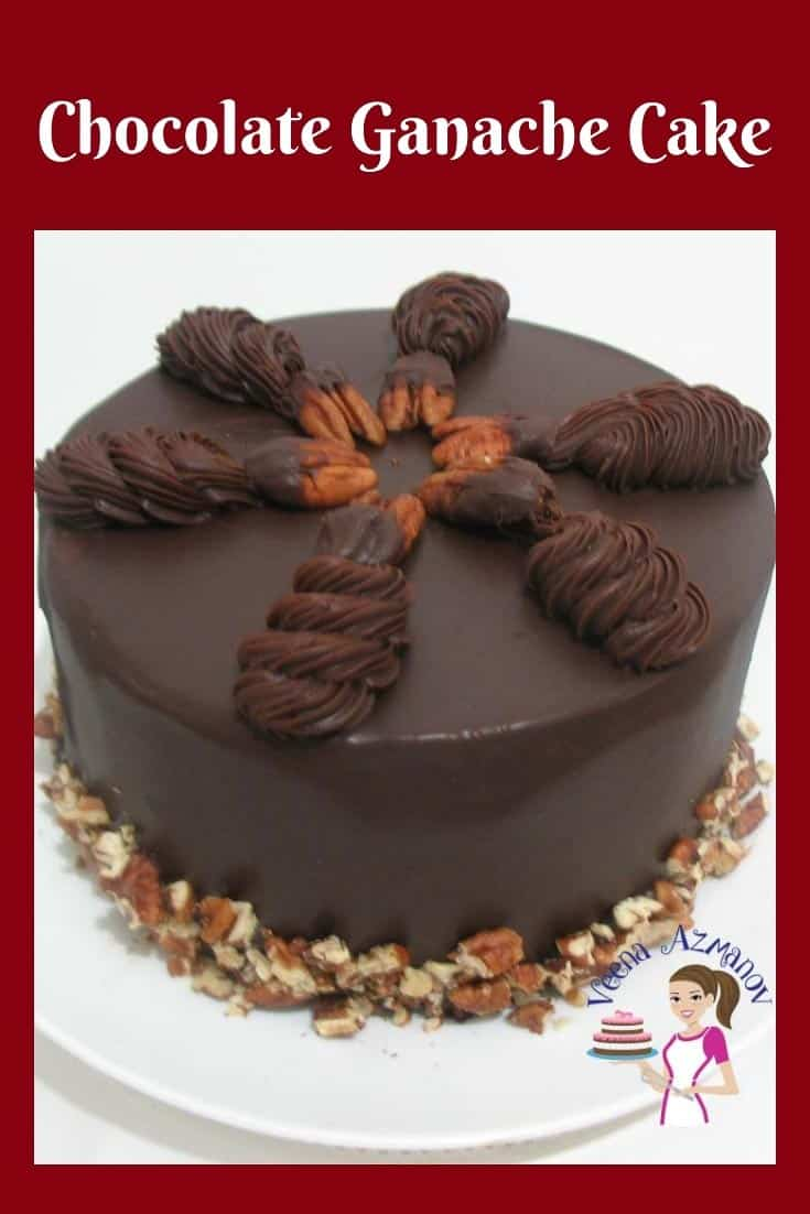 A chocolate mud cake frosted with ganache and chocolate glaze for that ultimate chocolate ganache cake