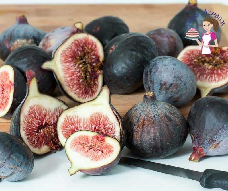 Fresh figs on a cutting board.