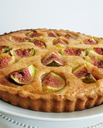A tart with fresh figs.