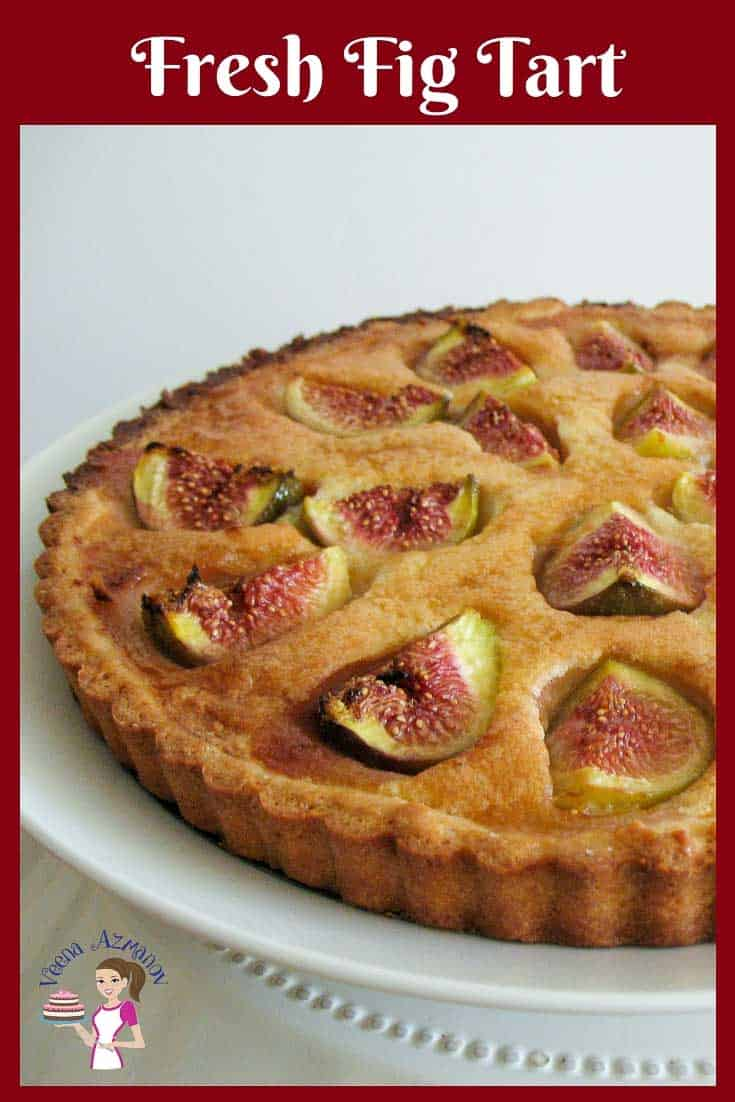 A summer fruit tart with Fresh Figs. French Figs in shortcrust pastry tart.