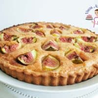 A French fig tart.