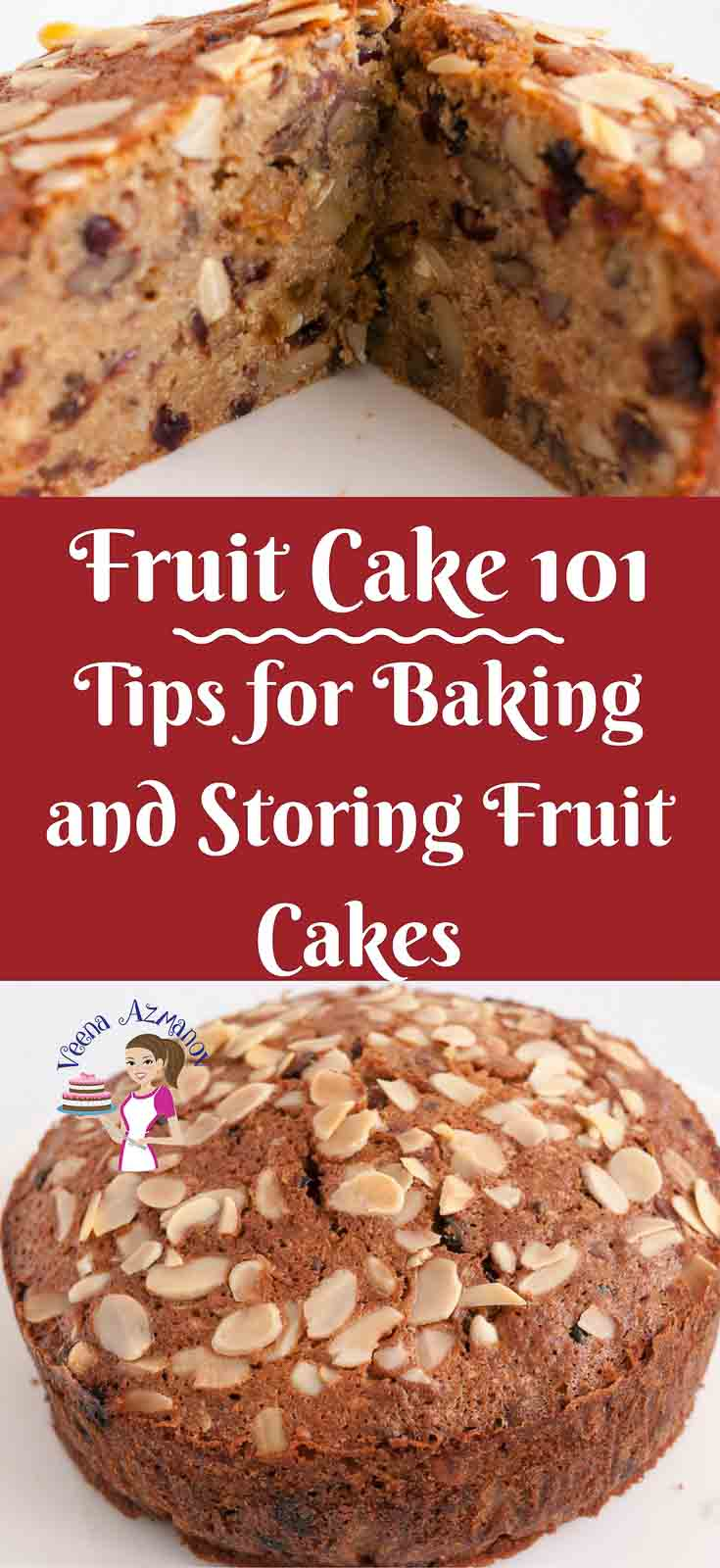 Baking a fruit cake is a little different than regular cakes.. In this Fruit cake 101 you will find tips for baking the perfect fruit cake and tips for storing your fruit cake weather you make yours with alcohol or fruit juice.