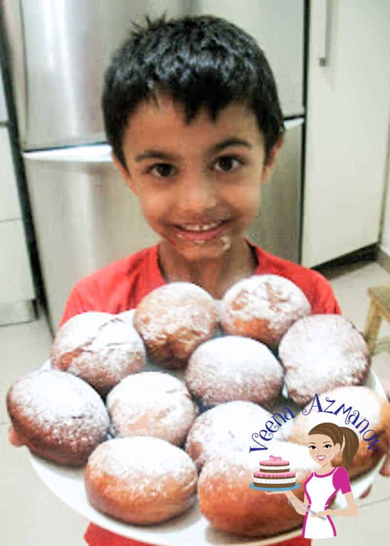 Weather you call them Jam Doughnuts, Sufganiyot, Sufganiyah, Donuts, Hanuka bread these are delicious deep fried treats. Traditionally filled with sweet jam and dusted with powder sugar but can be glazed with chocolate or other flavors