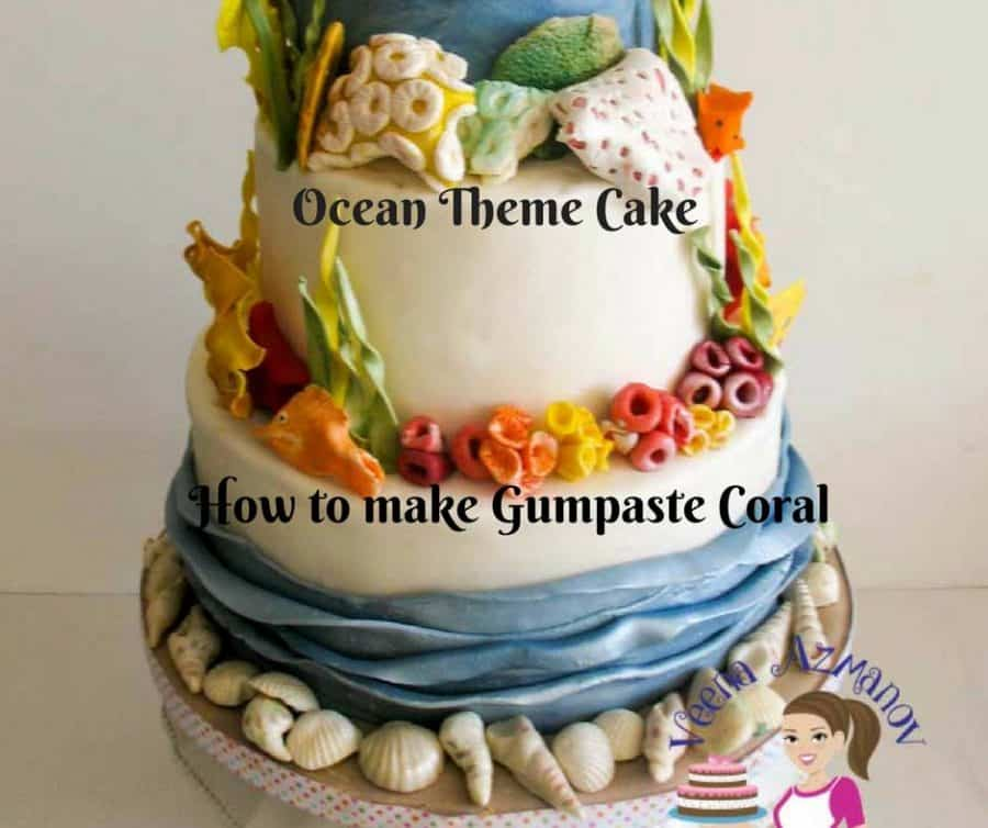 Gumpaste coral on an ocean theme cake is the absolute best. They are simply and easy to make. Here I have shown you a few different ways to make some gumpaste coral, seaweed and fish. These will work great on a wedding cake or a novelty cake.