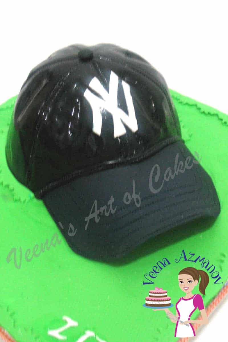 Baseball Cap Cake aka New York Yankees Cap Cake
