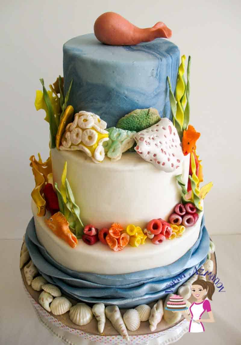 How to make Gumpaste Coral for Ocean Theme Cake