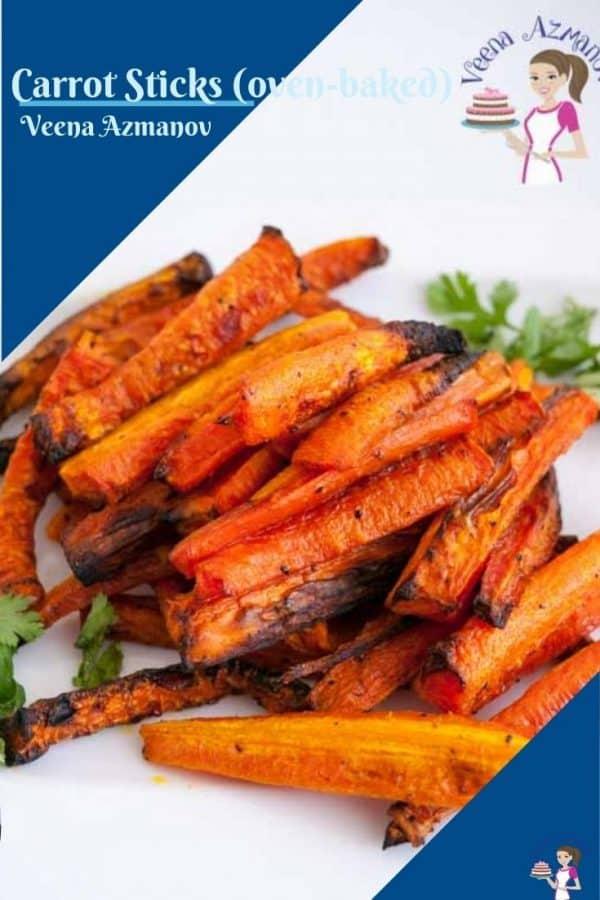 Pinterest image for baked carrots