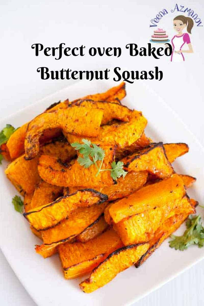 An image optimized for social sharing - Baked Butternut Squash Sticks aka Roasted Butternut squash.
