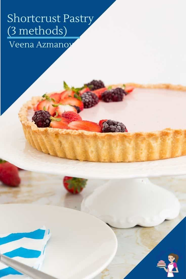 Learn to make perfect Rich Shortcrust Pastry known as Pâte sablée in French. Perfect for fruit tarts or tarts with sweet filling. #rich #shortcrust #pastry #PâteSablée via @Veenaazmanov
