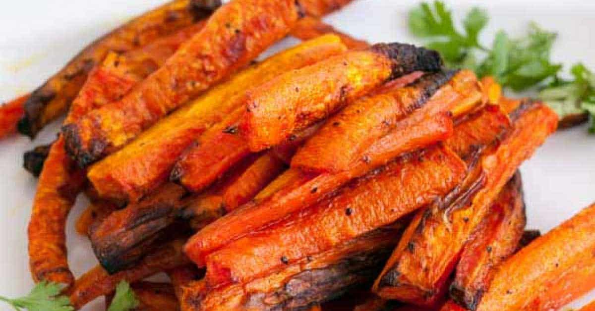 Oven Baked Carrot Sticks