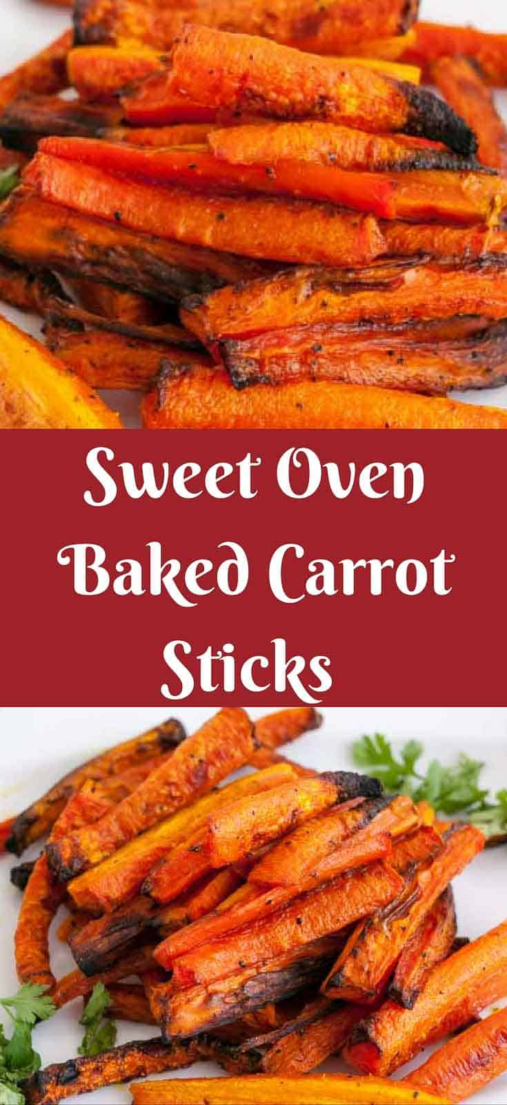 The oven baked carrot sticks are an easy way to eat heart healthy veggies more often. Baking veggies makes them sweeter and more delicious. The simple, easy and effortless recipe will have you and the family eating carrots often because they take less than 30 minutes to make.