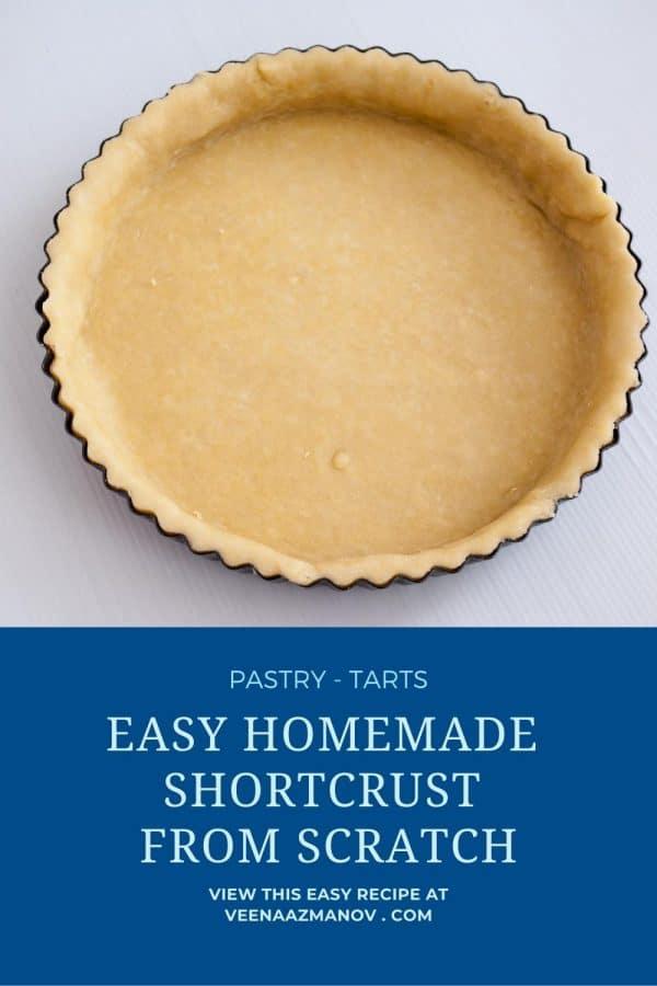 Pinterest image for pastry for tart.