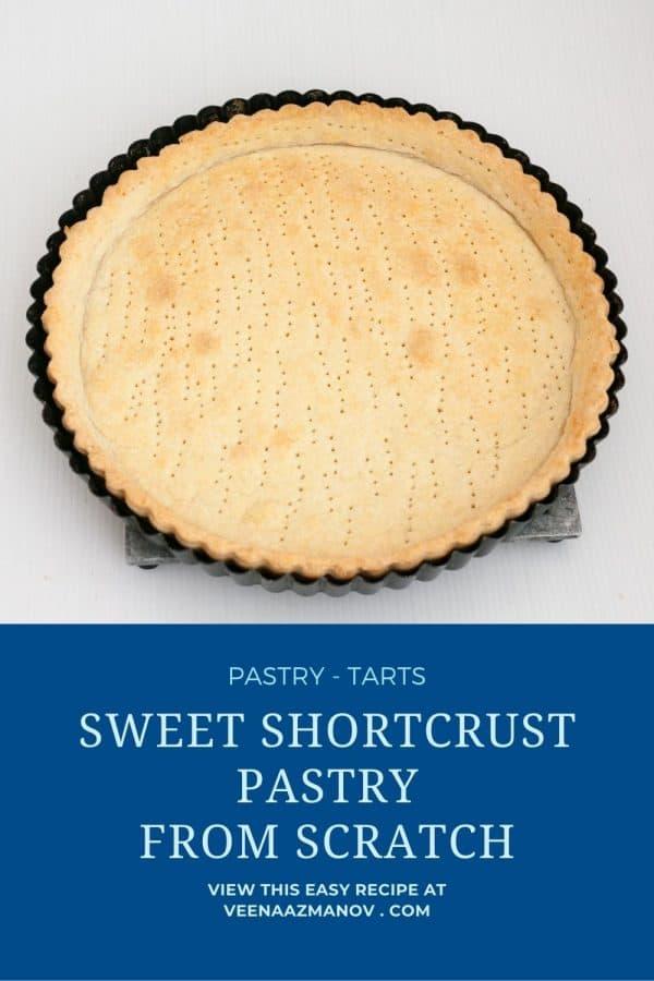 Pinterest image for crust for tarts.
