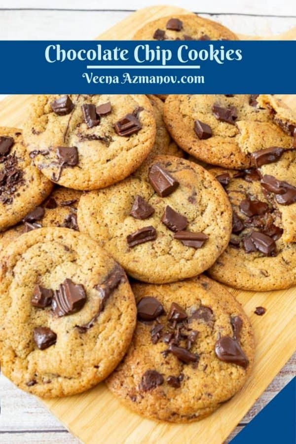 Pinterest image for chocolate cookies.