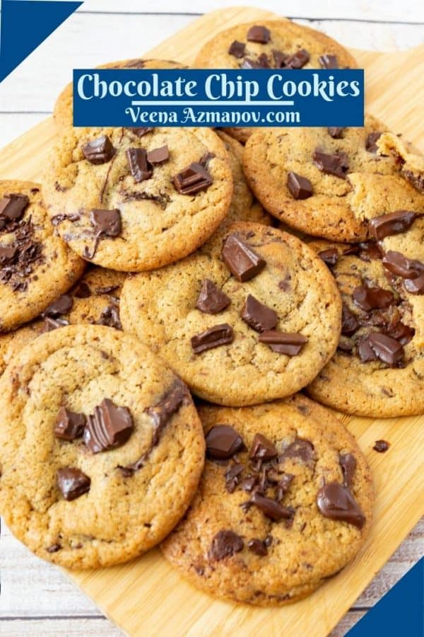 Pinterest image for chocolate cookies