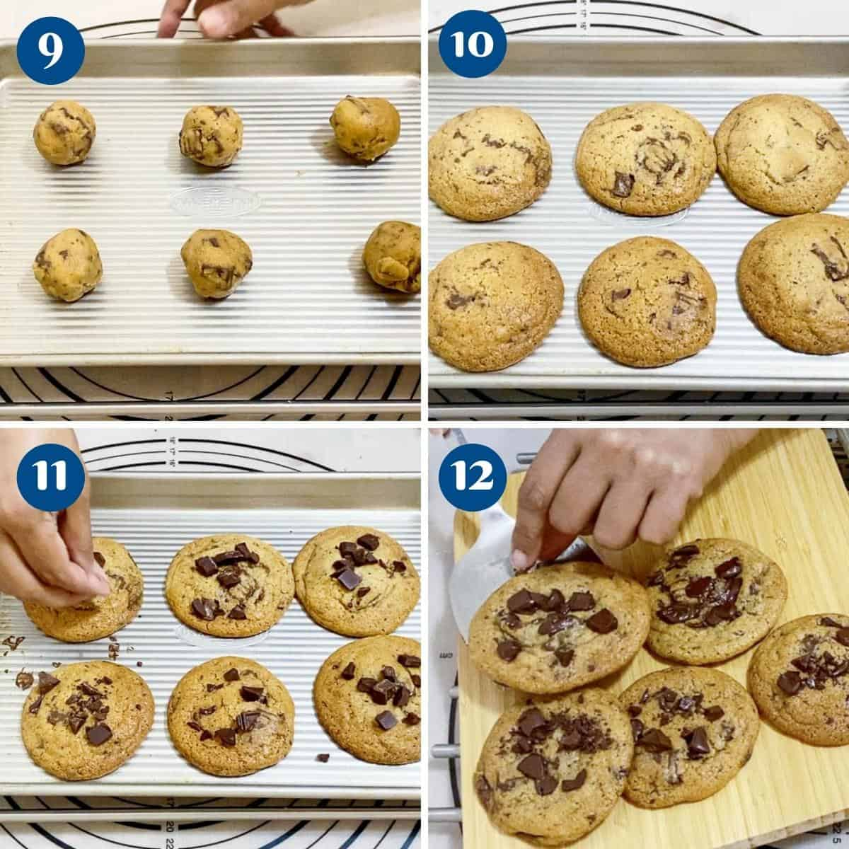 Pinterest image for chocolate chip cookies.